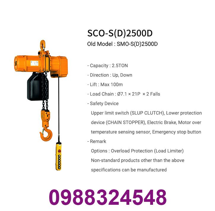palang điện xích Samsung SCO-S2500 2.5 tấn