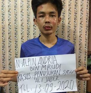 Identitas pelaku penyerangan Syekh Ali