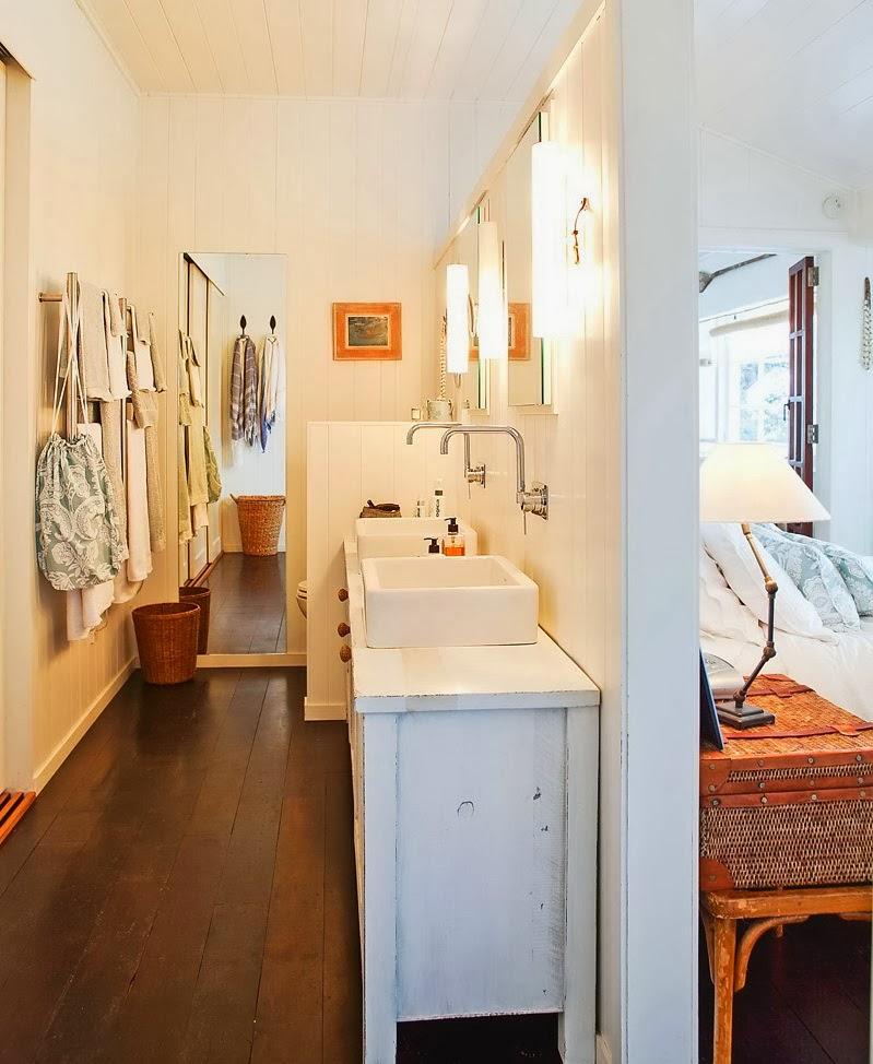 Domek przy plaży w Nowej Zelandii, wystrój wnętrz, wnętrza, urządzanie domu, dekoracje wnętrz, aranżacja wnętrz, inspiracje wnętrz,interior design , dom i wnętrze, aranżacja mieszkania, modne wnętrza, domek wakacyjny, łazienka