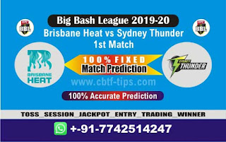 Who will win Today BBL T20, 1st Match Thunder vs Brisbane - Cricfrog