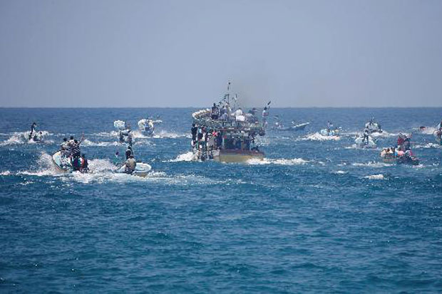 Warga Gaza Terobos Blokade Laut Israel