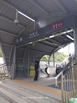 Pintu Masuk Stasiun Tangwei di Shenzhen