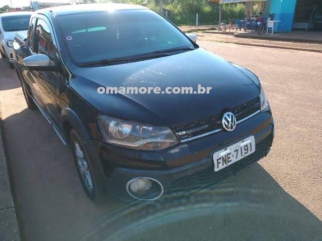 Policiais militares localizam veículo roubado no Paraná circulando em Guajará-Mirim com placa adulterada