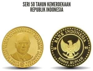 BI Keluarkan Uang Logam Edisi Khusus Kemerdekaan, Tahun 1995 Ada Gambar Presiden Suharto Senilai Rp 850 Ribu