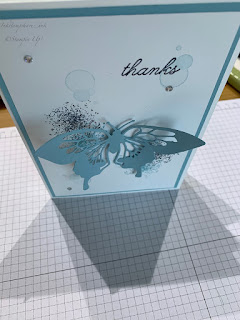 Butterfly Beauty Dies and Beauty Abounds stamps thank you card. Blog Hop