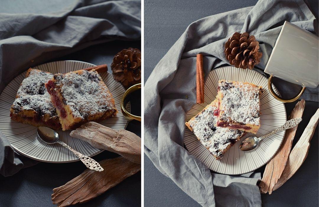 Blechkuchen-Kirschen-Rezept