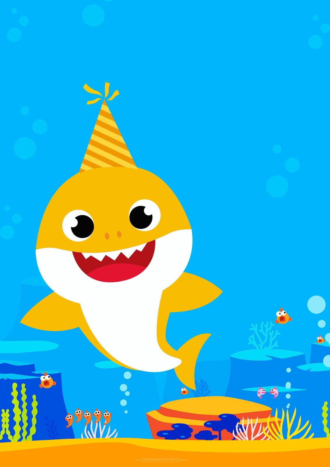 Baby Shark: Invitaciones para Imprimir Gratis. - Oh My Bebé!