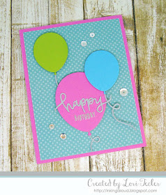 Birthday Balloons card-designed by Lori Tecler/Inking Aloud-stamps and dies from Concord & 9th