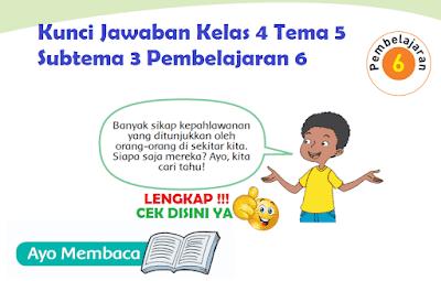 Kunci Jawaban Kelas 4 Tema 5 Subtema 3 Pembelajaran 6 www.simplenews.me