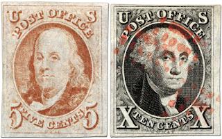 Primeros Sellos Postales Estados Unidos