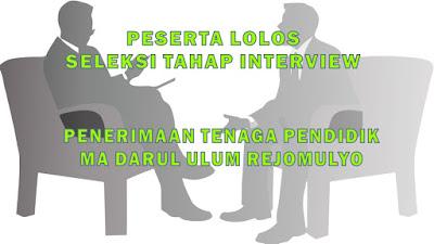 Pengumuman Peserta yang Lulus Seleksi Tahap Interview Calon Tenaga Pendidik MA Darul Ulum