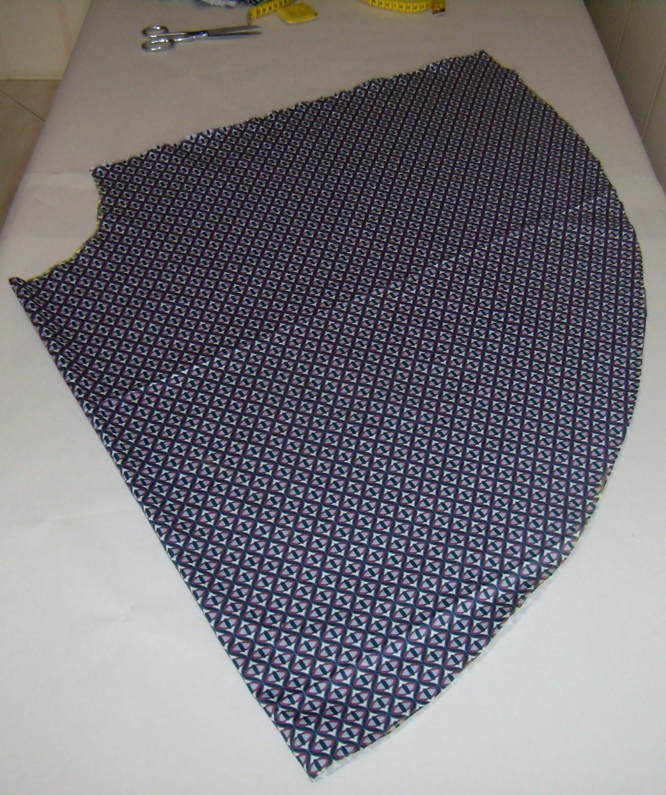 Шитье юбка солнце-клеш мастер класс пошагово #2