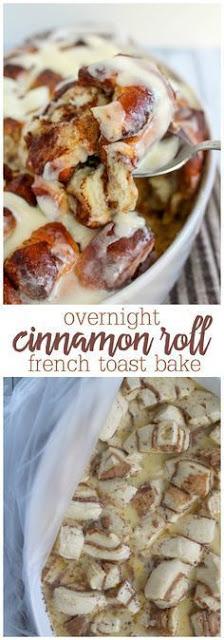 Overnight Cinnamon Roll French Toast Bake