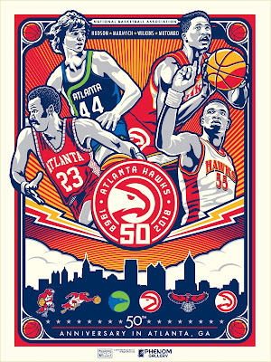 Atlanta Hawks 50th Anniversary Screen Print by Stolitron x Phenom Gallery