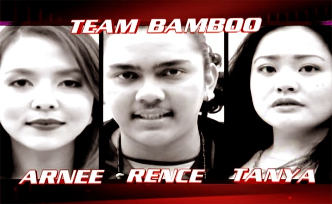 Watch The Performance of Arnee Hidalgo, Rence Rapanot and Tanya Diaz of The Voice of the Philippines Season 2 Team Bamboo
