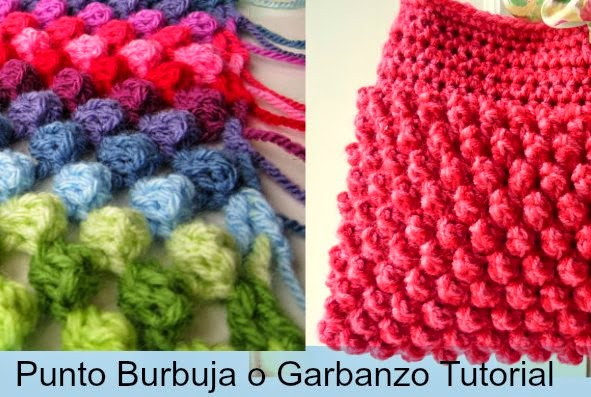 Punto Burbuja o Garbanzo Crochet 2 Tutoriales
