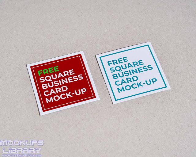 square business card mockup 6
