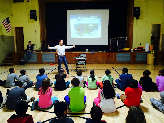 Chris Lambert, Channel 7 News, Visits the 4th Grade