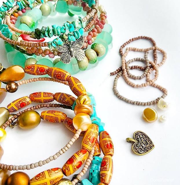 bracelet à fil mémoire par cocoflower - www.cocoflower.net
