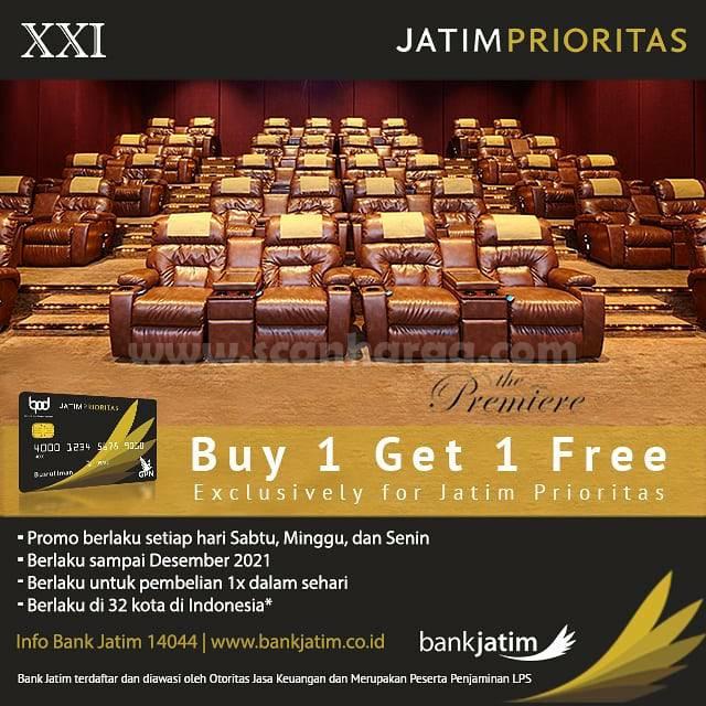 Cinema XXI Promo Beli 1 Gratis 1 Tiket dengan Kartu Debit Jatim Prioritas