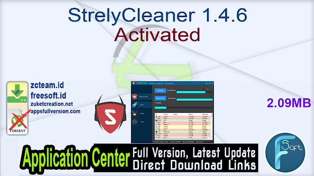 StrelyCleaner 1.4.6 Activated
