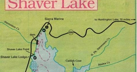 2018 shaver lake fishing map and fishing report and fresno for Fresno fishing report