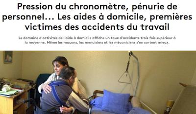 https://www.francetvinfo.fr/economie/emploi/carriere/vie-professionnelle/sante-au-travail/pression-du-chronometre-penurie-de-personnel-les-aides-a-domicile-premieres-victimes-des-accidents-du-travail_3272545.html
