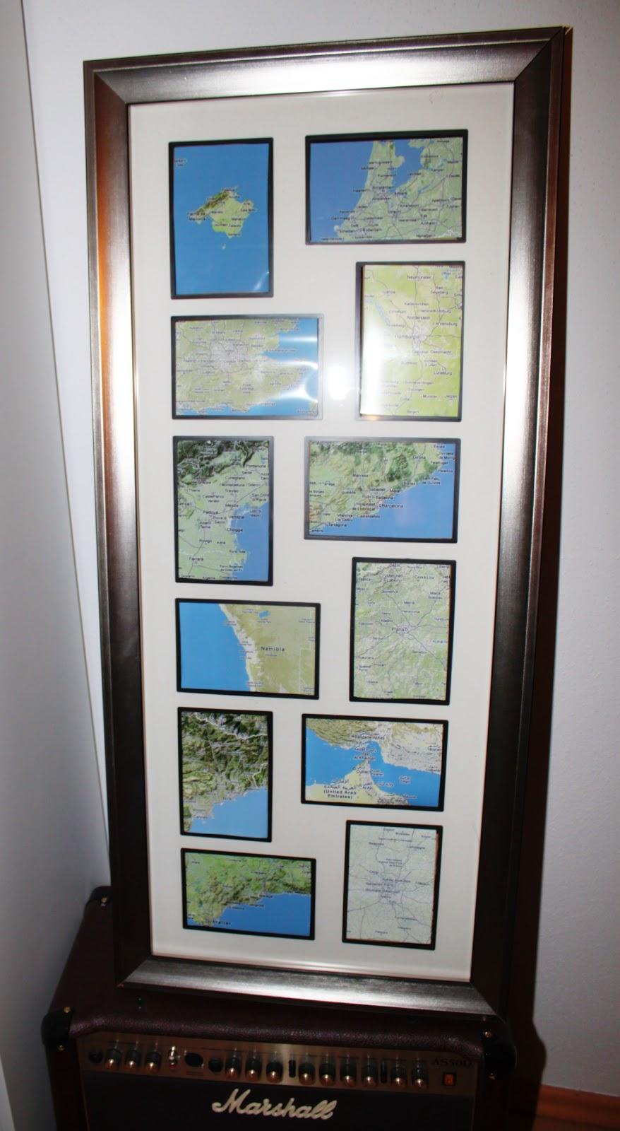 Wanddeko fürs Wohnzimmer selber machen: mit Landkarten
