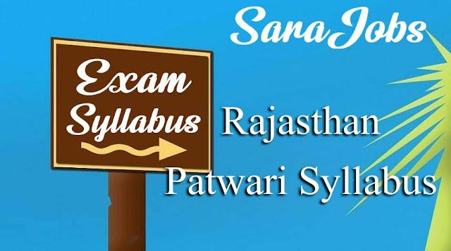 Rajasthan Patwari Syllabus