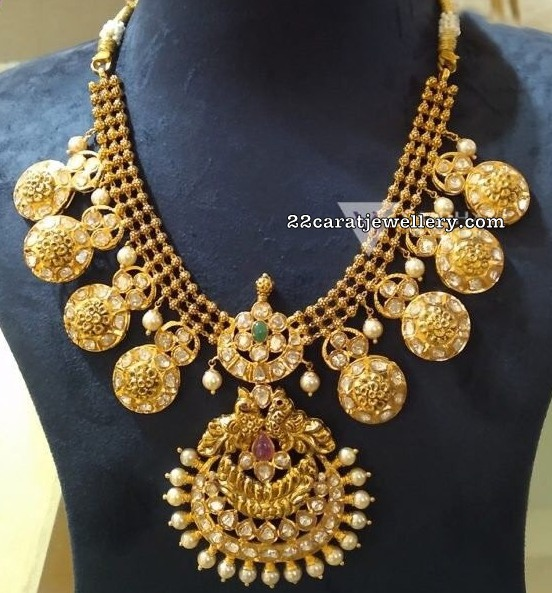 Antique Bottu Necklace Vaibhav Jewellers