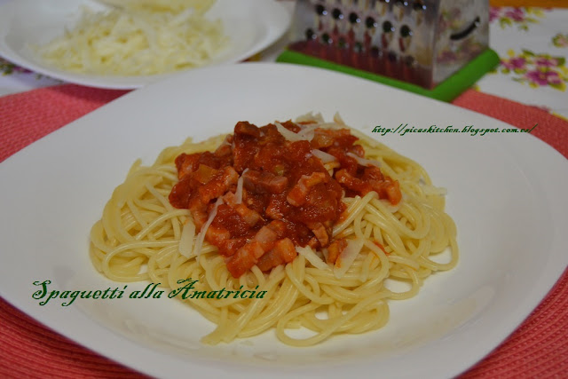 Spaguetti all'amatriciana