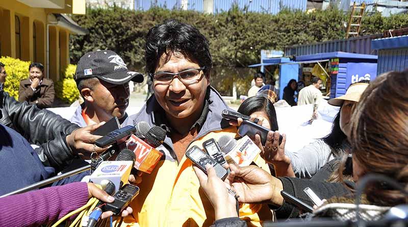 El secretario Municipal de Atención Ciudadana y Gobernanza de El Alto, Henry Contreras