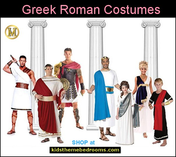 Greek Roman costumes - Mens - Womens - Children Roman Gladiator Soldier Costume - Roman Princess - Caesar Costume -   Toga Costumes - Women's Grecian Costumes - Spartan Warrior