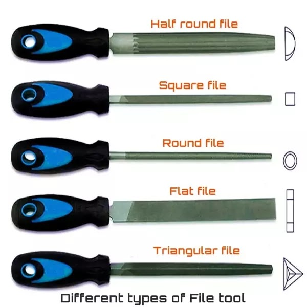 Different types of File tool, engineering files tool types, रेती के प्रकार
