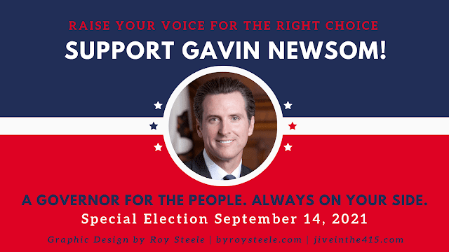 """An image optimized for Twitter posts that says """"Support Gavin Newsom"""""""