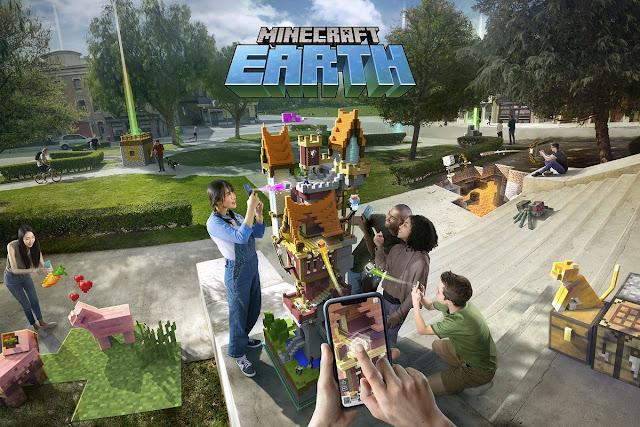 Minecraft Earth ماين كرافت ايرث للاندرويد وأيفون