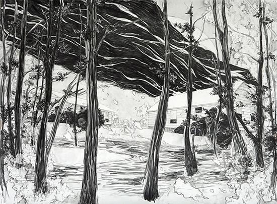 Laura Bruce Tight, 2009 graphite on paper 113 x 155 cm
