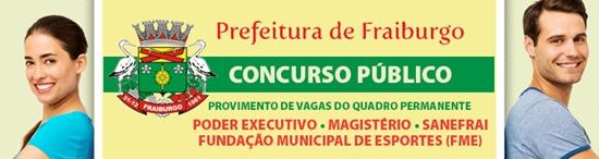 Concurso Prefeitura de Friburgo 2017