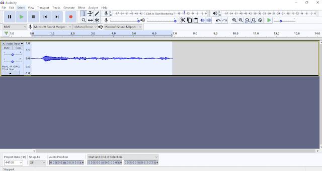 برنامج أوداسيتي لعمل صدى الصوت