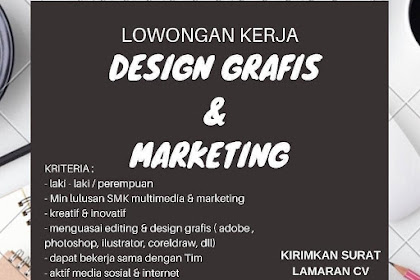 Info Lowongan Kerja Desain Grafis Marketing Simhae Jakarta