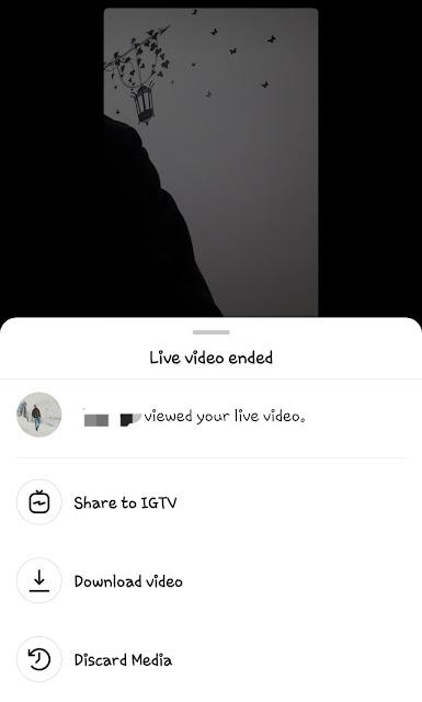 Share IGTV video