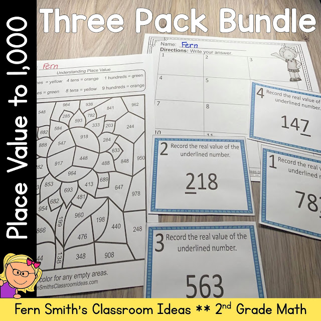 2nd Grade Go Math 2.5 Understanding Place Value Within 1,000 Bundle