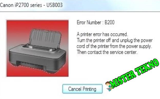 error printer canon ip2770