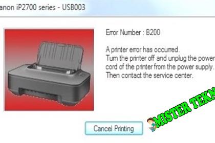 Cara Mengatasi Error Printer Canon iP2770