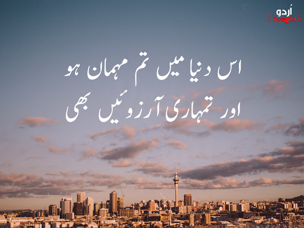 Urdu Quotes About Life - Mehman