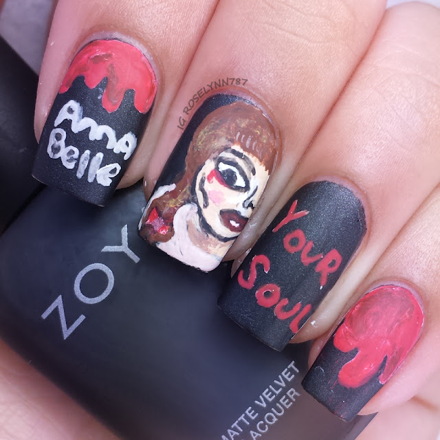 Halloween Movie - Annabelle Nails