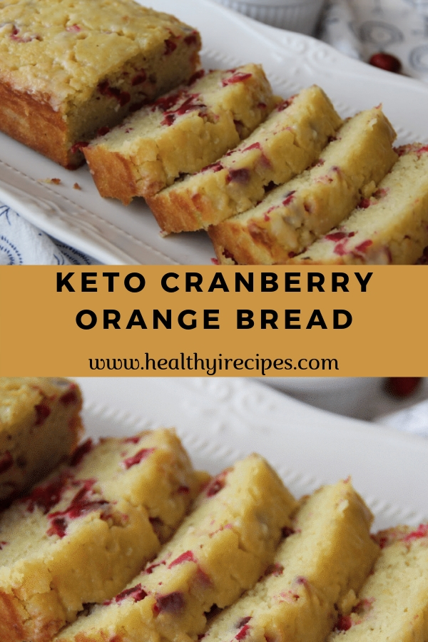 Keto Cranberry Orange Bread #bread #breakfast # Dessert