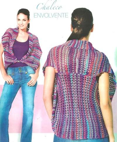Chaleco envolvente sujeción delantera tricot