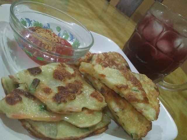 spicy korean pancake