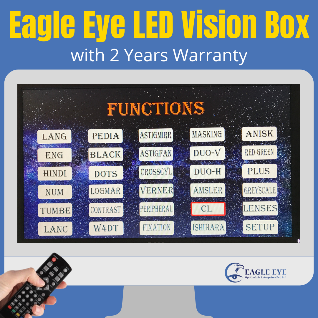 LED DIGITAL VISION CHART (Eagle Eye Digital Vision Box System)